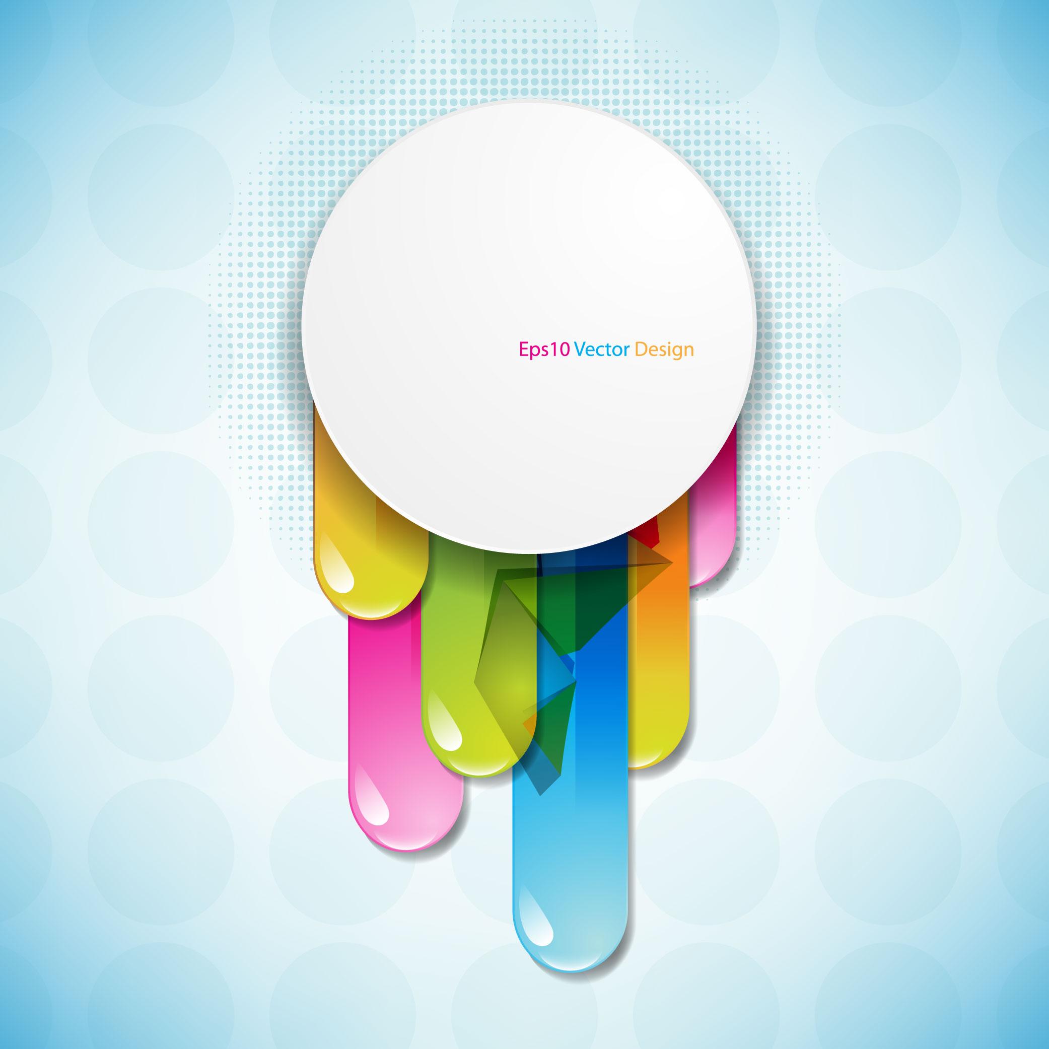 Brilliant color circle 04 vector Free Vector / 4Vector.