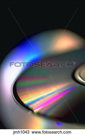 Stock Photo of CD ROM discs. Compact discs. Close.
