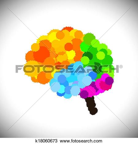 Clipart of vector icon of creative, brilliant & colorful painted.