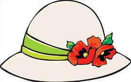 Ladies Wide Brimmed Hats Clipart.