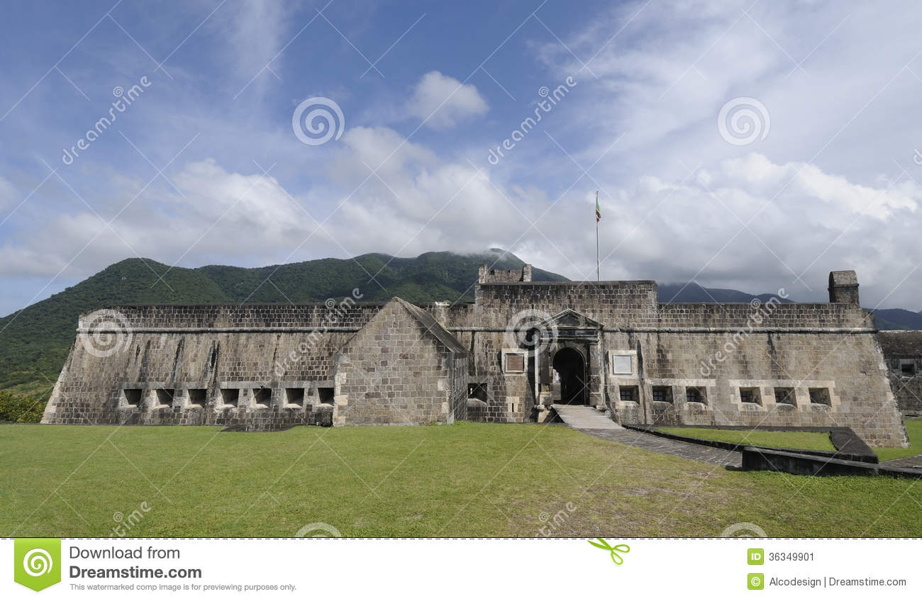 Brimstone Hill Fortress Stock Image.