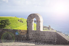 Brimstone Hill Fortress In St. Kitts. West Indies. Stock Photo.