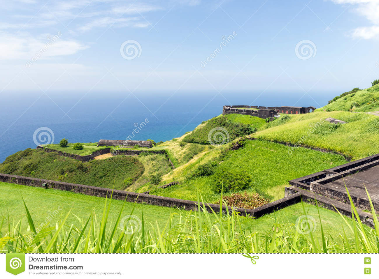 Brimstone Hill Fortress, St. Kitts And Nevis Stock Photo.