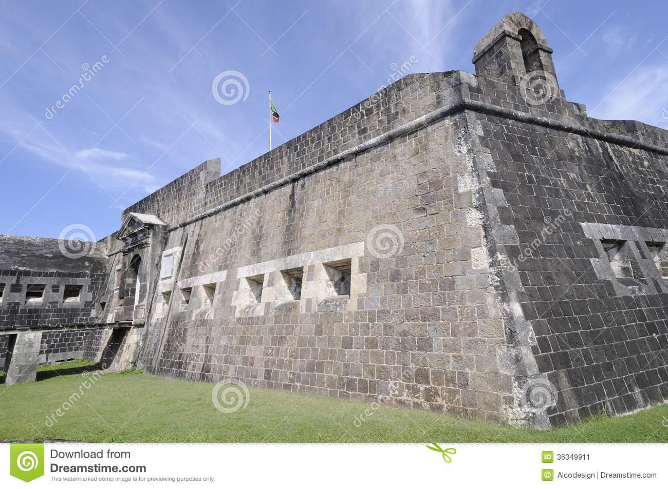 Brimstone Hill Fortress Stock Image.