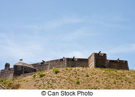 Stock Image of Brimstone Hill Fortress.
