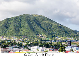 Stock Photography of Brimstone Hill Fortress.