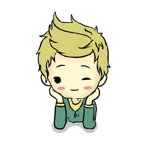 Cartoon drawings of niall horan.