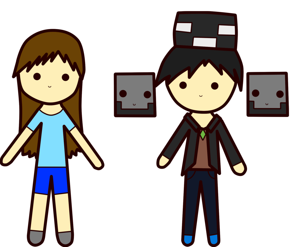 Commission: Chibi Wifi Wither And Brina by BabyWitherBoo on DeviantArt.