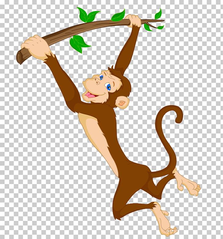 Mono, mono saltador PNG Clipart.