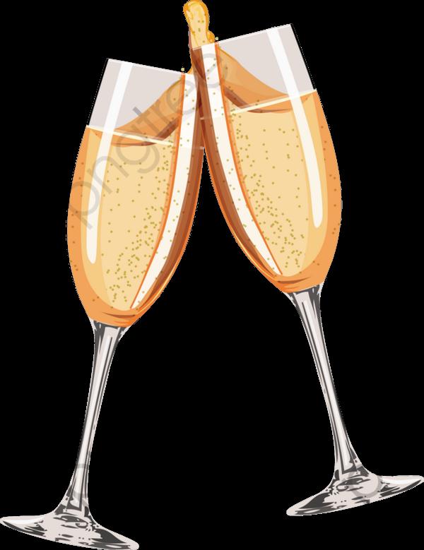 Um Brinde De Champanhe, Cheers, O Champanhe, Golden PNG Imagem para.