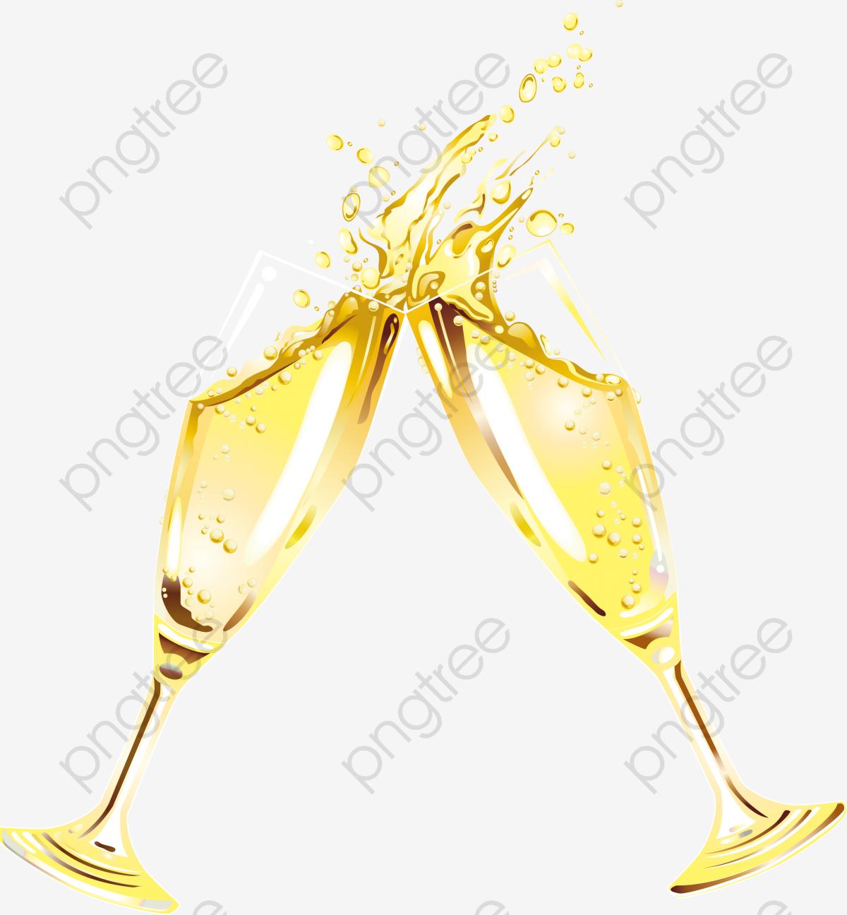 Um Brinde De Champanhe , Beber, Champagne, O Vinho PNG Imagem para.