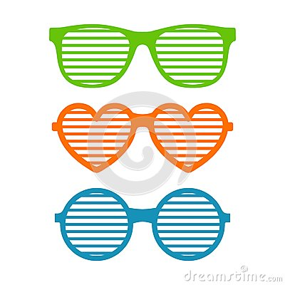 Shutter Shades Stock Illustrations.