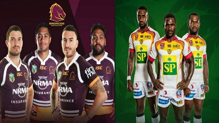 Brisbane Broncos Vs PNG Hunters at Oil Search National Football.
