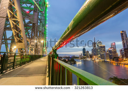 Brisbane City Skyline Stock Photos, Royalty.