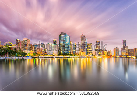 Brisbane City Stock Photos, Royalty.