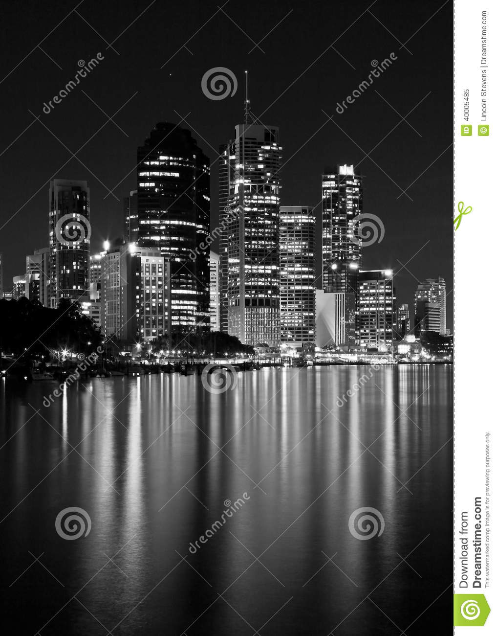 City Lights Water Reflection.