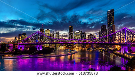 Brisbane city lights clipart #12
