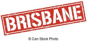 Vectors of Brisbane red square stamp csp40698534.