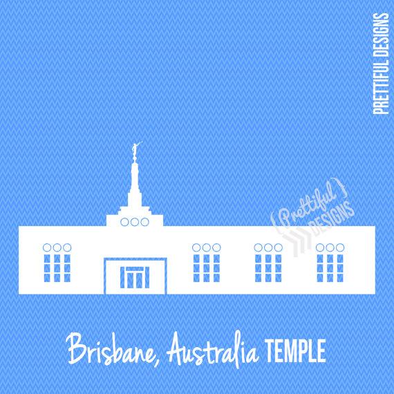 Brisbane Australia LDS Mormon Clip Art by ILoveToSeeTheTemple.