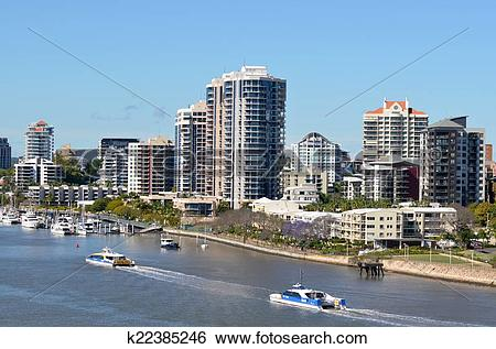 Stock Images of Brisbane River Queensland Australia k22385246.