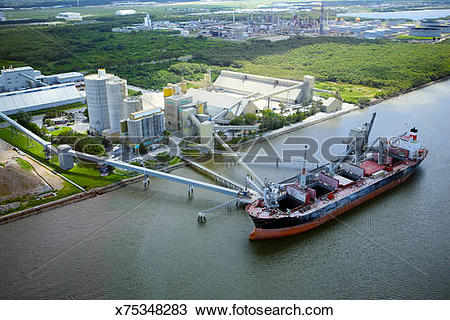 Stock Photo of Aerial view of Brisbane River x75348283.