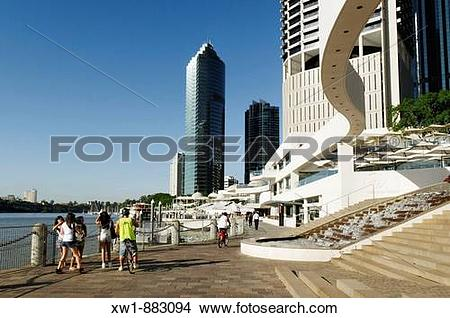 Stock Photo of Eagle Street Pier at Brisbane River, Brisbane.