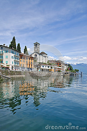 Brissago,Ticino Canton,Lake Maggiore,Switzerland Royalty Free.