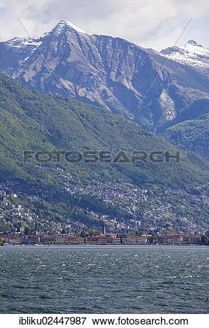 "Picture of ""Ascona, view from the Brissago Islands, lake Lago."