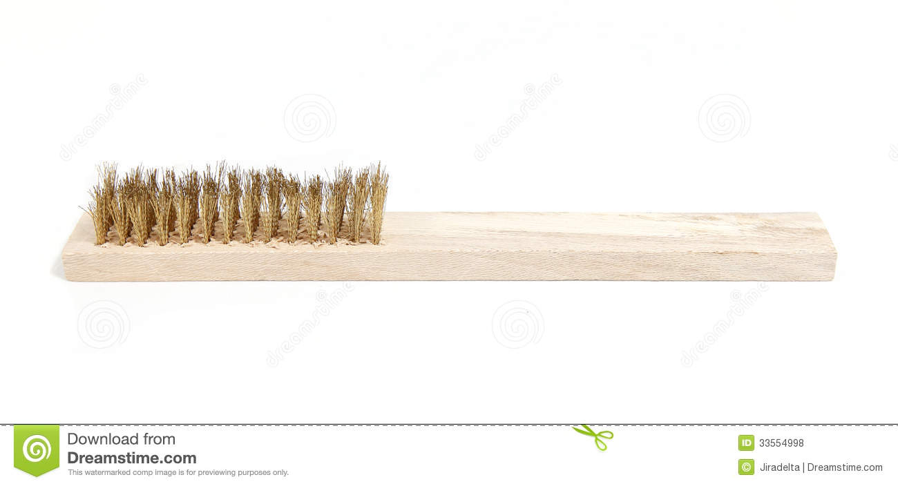 Iron Bristle Brush Royalty Free Stock Photos.