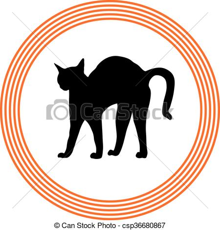 Clip Art Vector of bristle cat csp36680867.