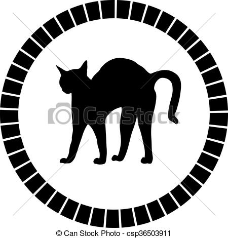 Vector Clip Art of bristle cat csp36503911.