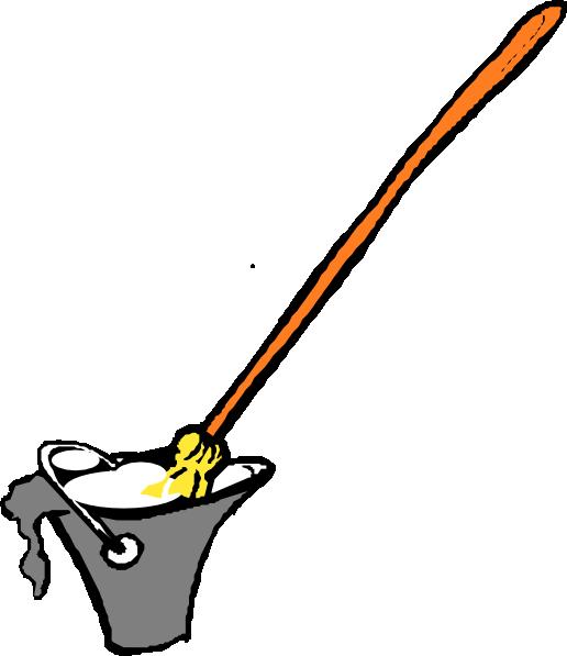 Bristle Broom Top Clipart.