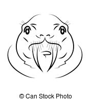Vector Clip Art of Walrus.