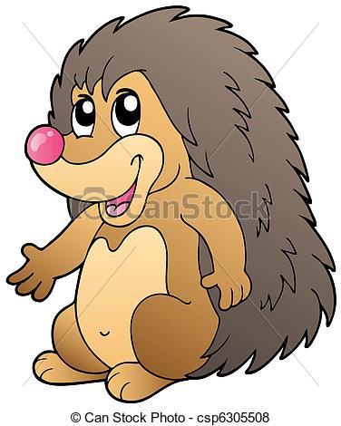 Vector of Cute cartoon hedgehog.