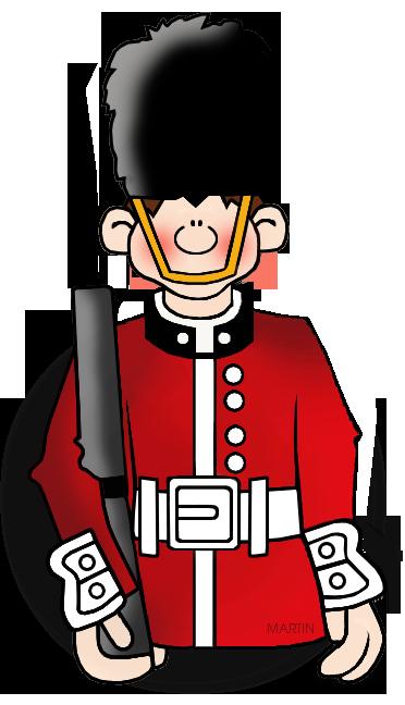 Free Military Clip Art by Phillip Martin, British Soldier.