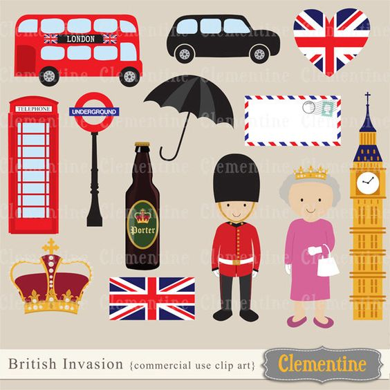 London clip art, London clipart, crown clip art images, British.