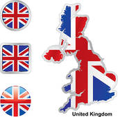 Map Britain Clip Art.