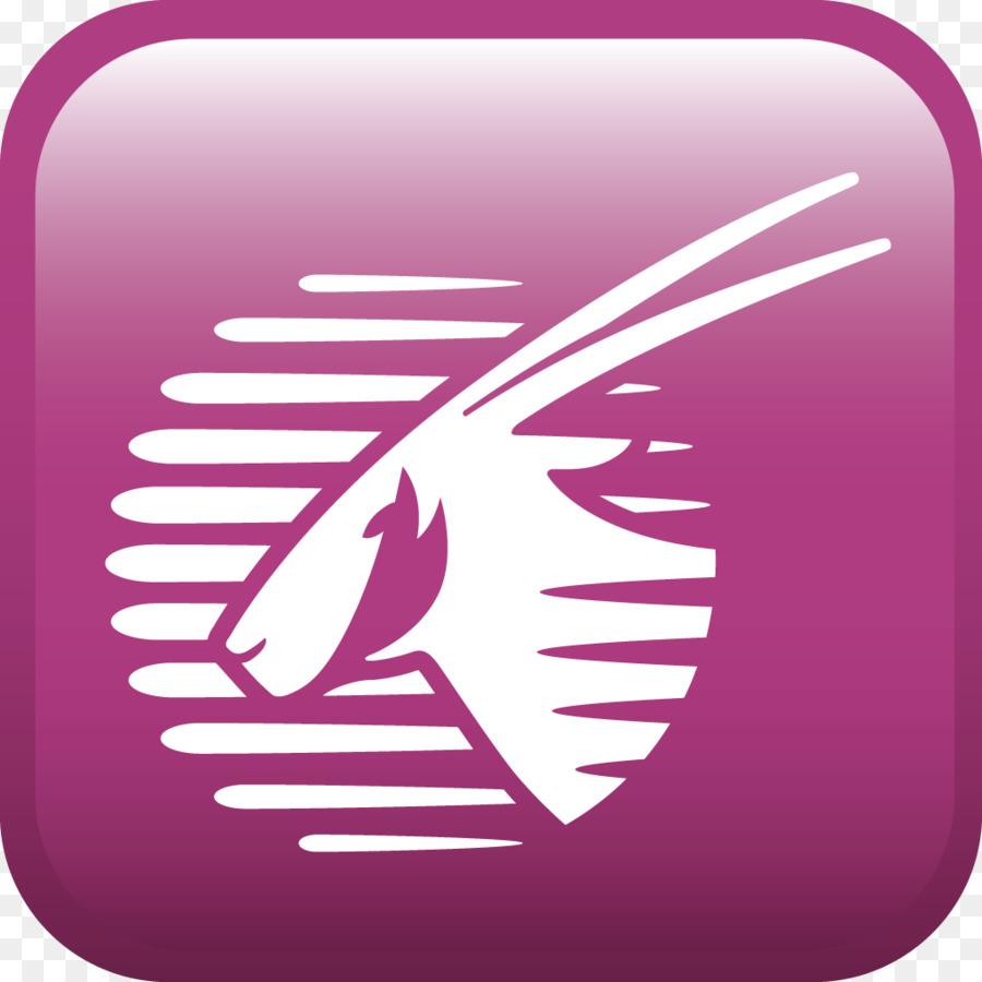 Qatar Airways Logo clipart.