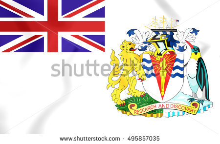 British Antarctic Territory Flag Stock Photos, Royalty.