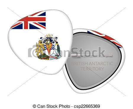 Clip Art Vector of British Antarctic Territory.