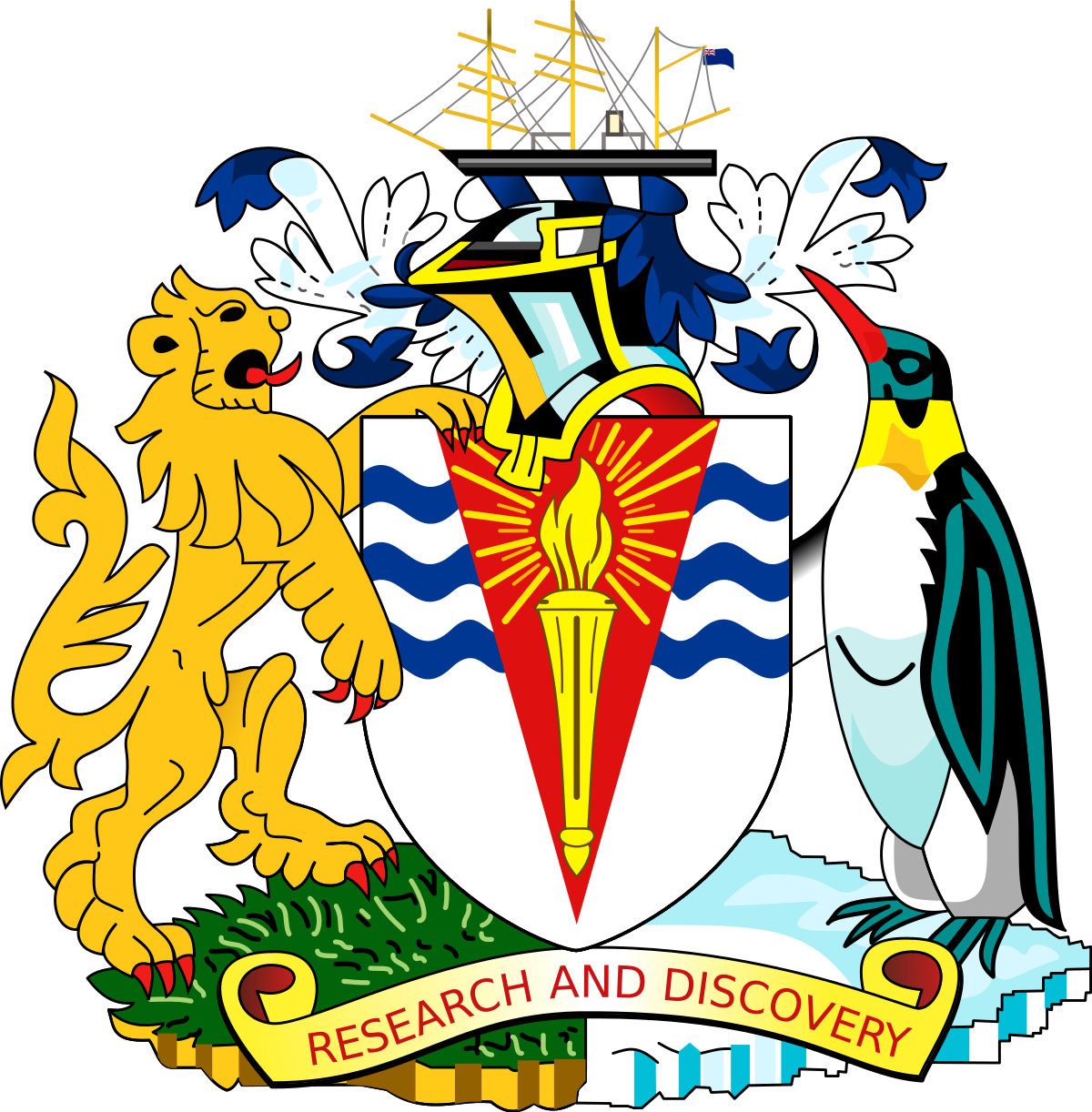 Coat of arms of the British Antarctic Territory.