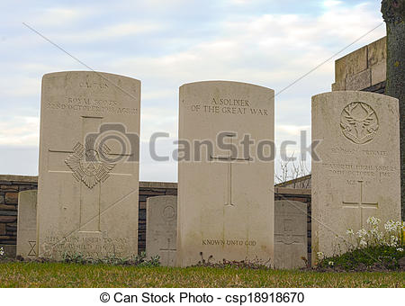 Picture of New British Cemetery in flanders fields Belgium.