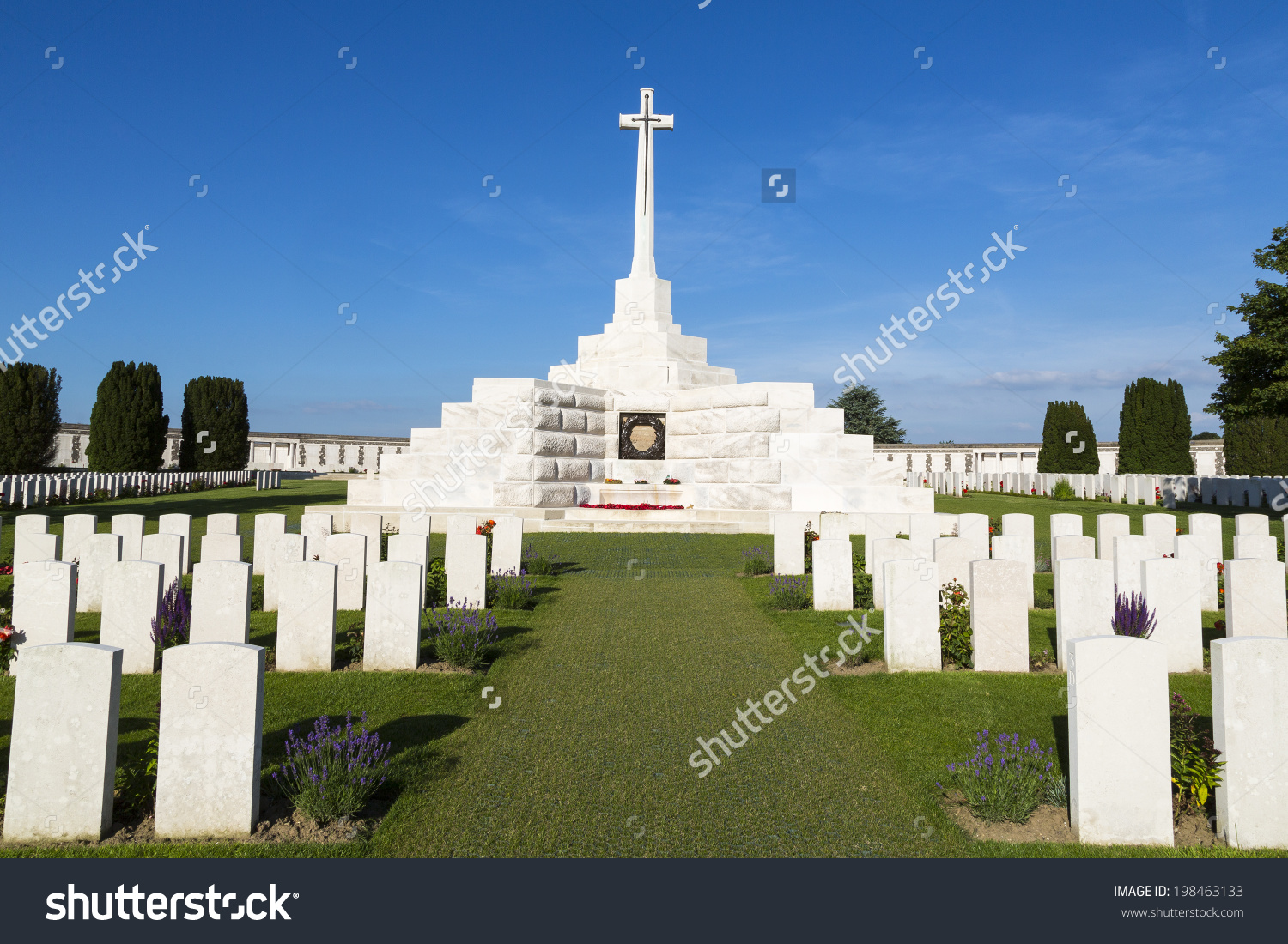 Tyne Cot World War One Cemetery Stock Photo 198463133.
