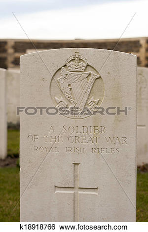 Stock Images of New British Cemetery Irish soldier flanders fields.