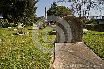 Gravestones Of The British Cemetery In Kathmandu, Nepal Editorial.