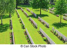 Stock Photos of New British Cemetery Irish soldier flanders fields.