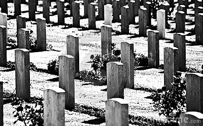 British World War I Military Cemetery Royalty Free Stock Image.