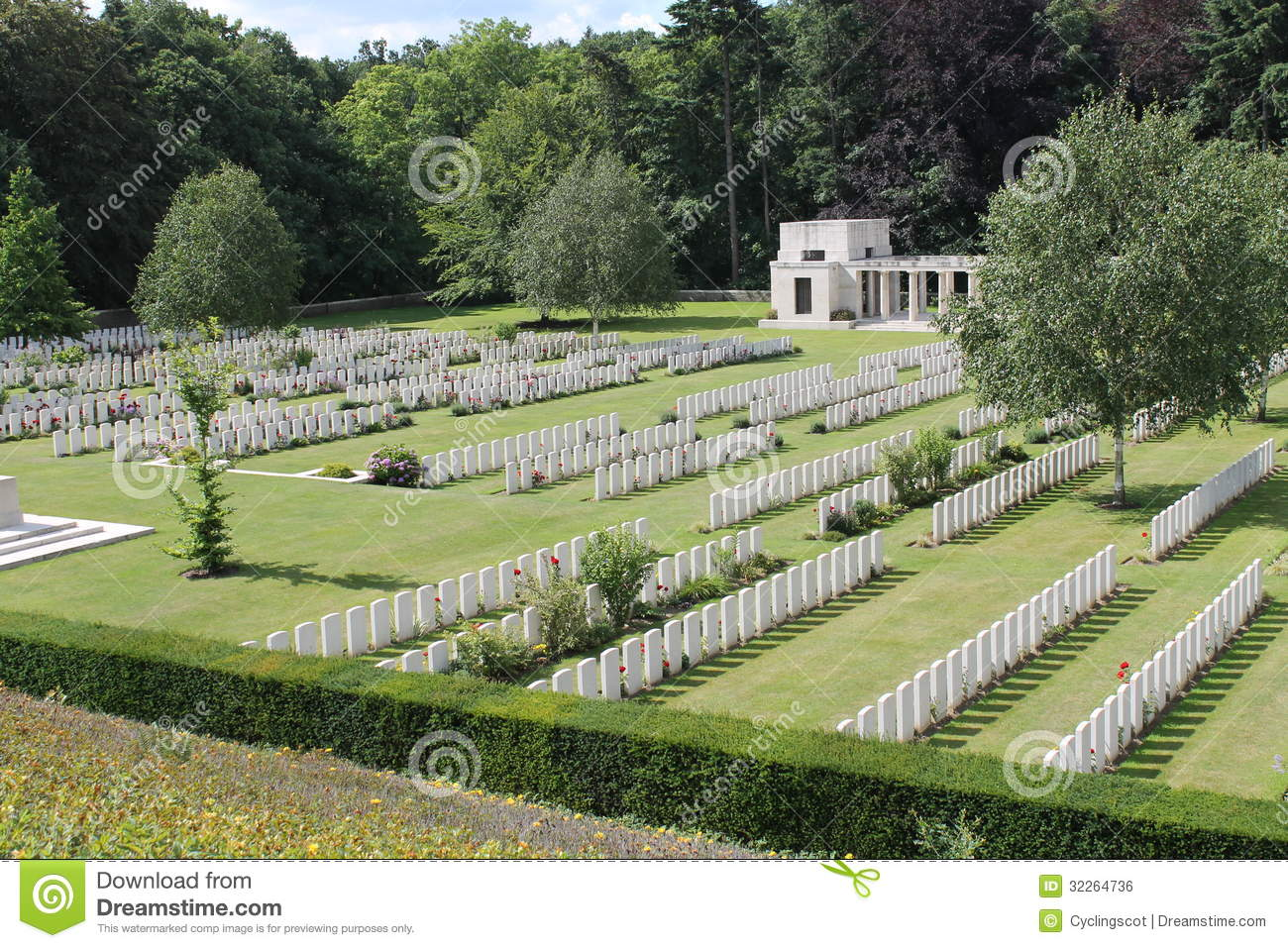 WW1 Buttes New British Cemetery And New Zealand Memorial In.