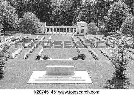 Stock Image of New British Cemetery world war 1 flanders fields.