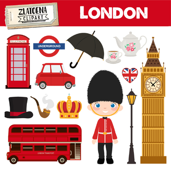 London Clipart British Clipart England graphics Great Britain clipart Travel.
